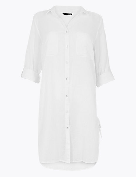 Pure Cotton Shirt Beach Dress