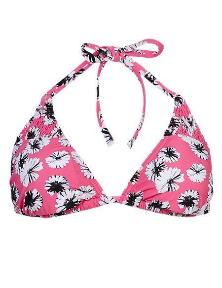 Daisy Print Bikini Top