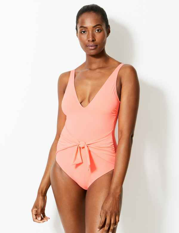 de824ad52f0e9 Secret Slimming™ Padded Plunge Swimsuit. M&S Collection