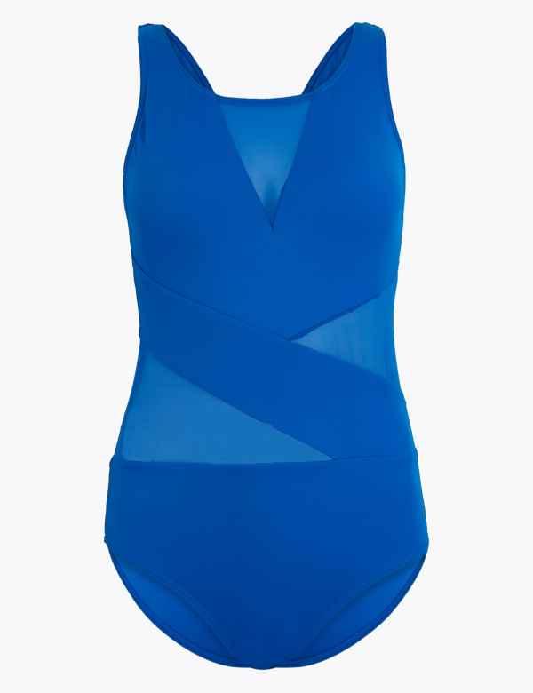 New Womens Marks /& Spencer Black Swimming Costume Size 16 14