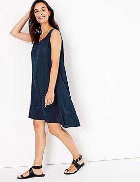 f4d931fee188ad Crinkle Sleeveless Relaxed Beach Dress