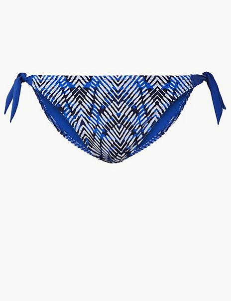 Printed Tie Side Hipster Bikini Bottoms