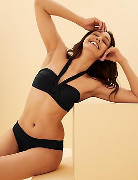 Padded Twist Halter Neck Bikini Top
