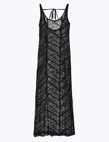 Lace Maxi Slip Beach Dress