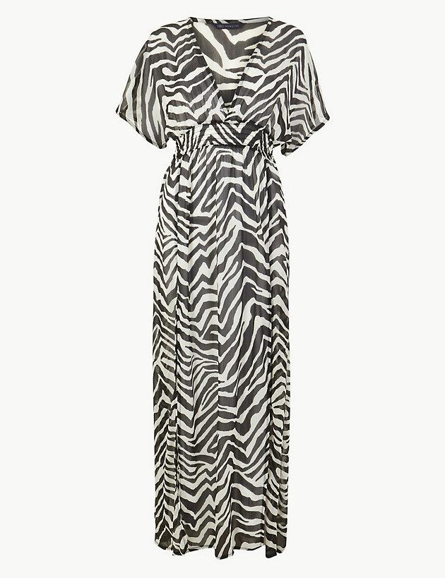 dea781e0f2 Zebra Print Maxi Beach Dress | Dresses | Marks and Spencer CH