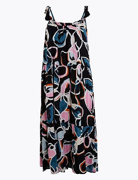 Cotton Rich Beach Slip Midi Dress