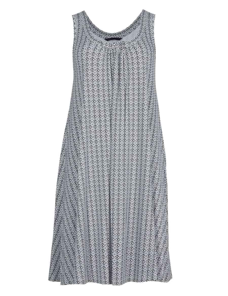 04bd3fbd4 Ikat Print Vest Beach Dress
