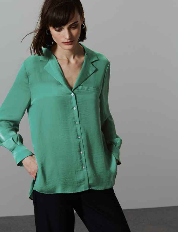 1984fbed2 Ladies Plain & Casual Shirts | Womens Utility Blouses | M&S