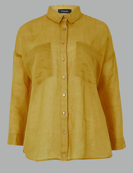 Ramie Button Detailed Shirt