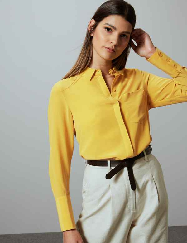33d6d42b5bf3 Womens Silk Shirts & Blouses | M&S