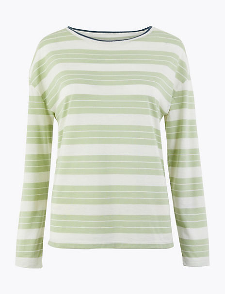 Striped Relaxed Fit Top
