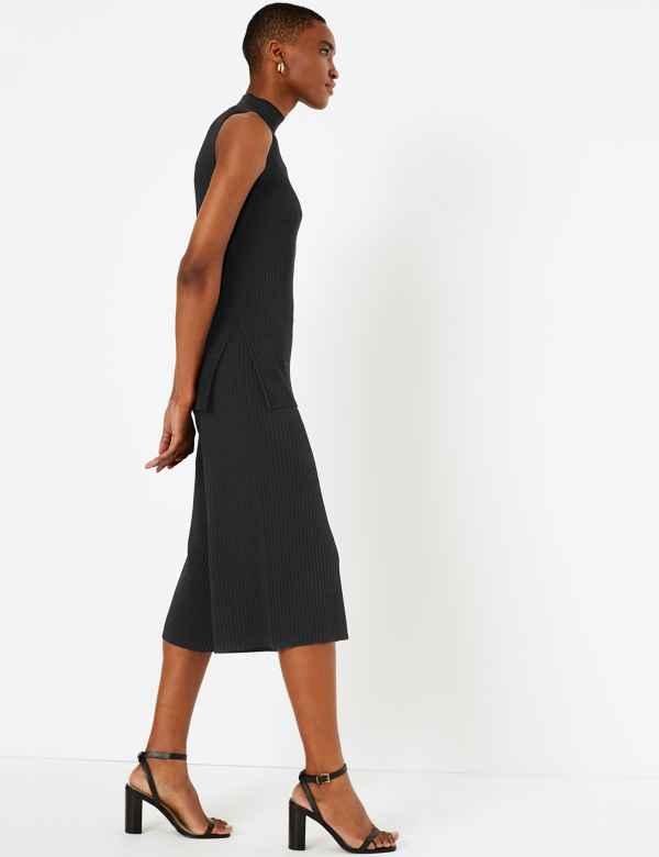 b552df4e2664e5 Culottes Trousers | Pleated & Striped Culotte Pants | M&S