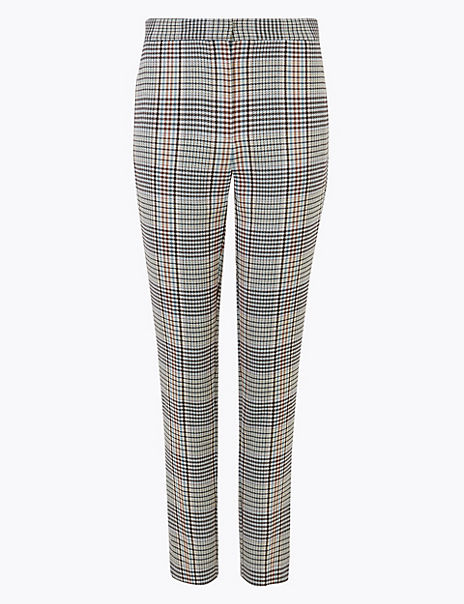 Checked Slim Trousers