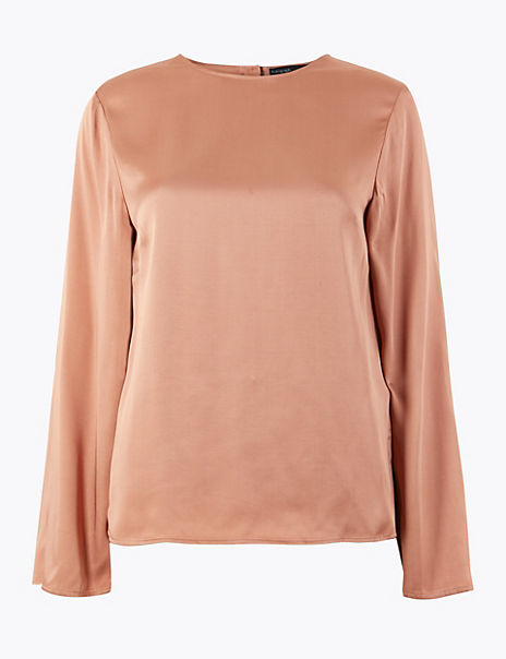 Long Sleeve Shell Top