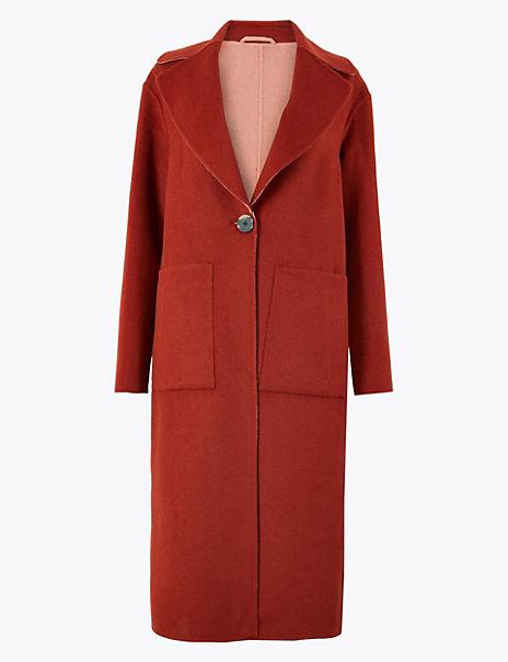 Split Wool Overcoat