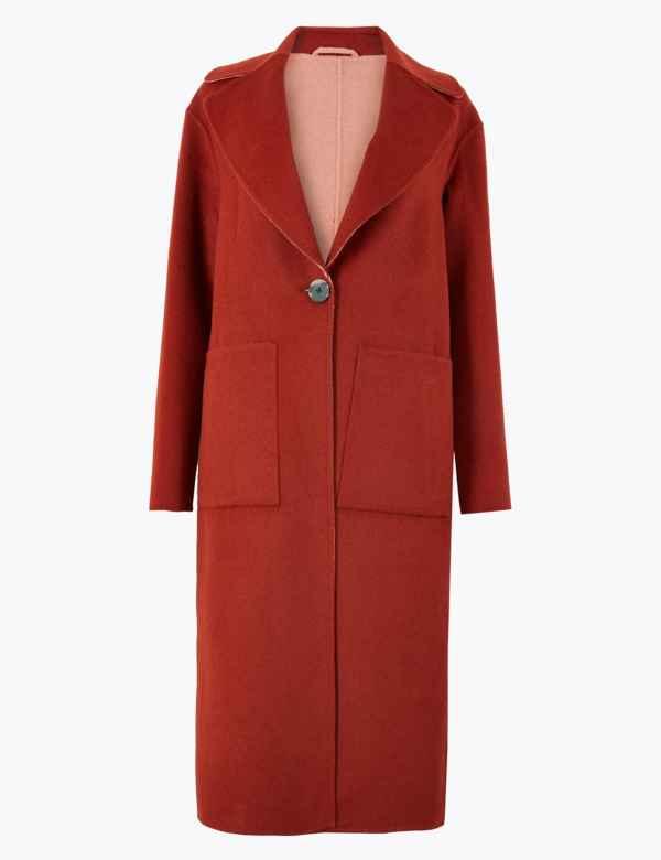 a5c59fd2d15a Wool Blend Reversible Overcoat. New