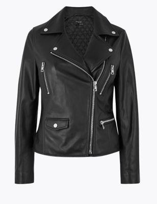 2899074b8c2 Leather Biker Jacket £249.00