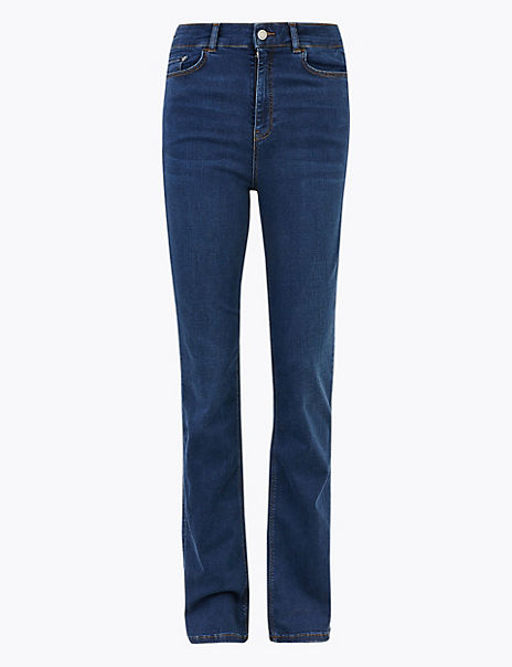 High Waist Slim Fit Flared Jeans