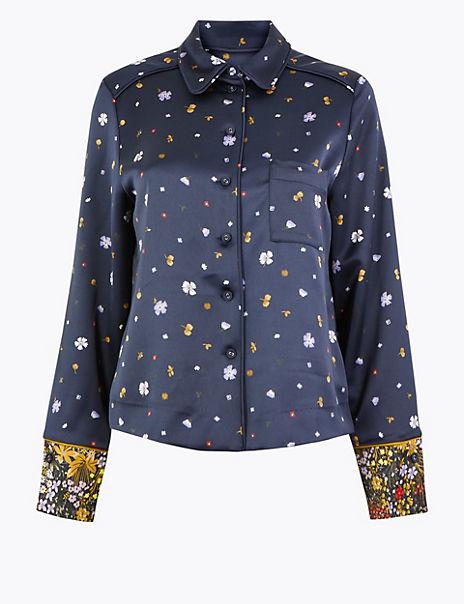Floral Pyjama Style Blouse
