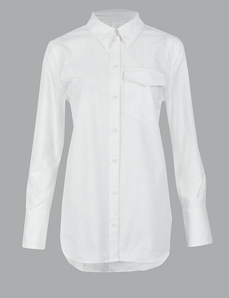 Pure Cotton Button Detailed Shirt