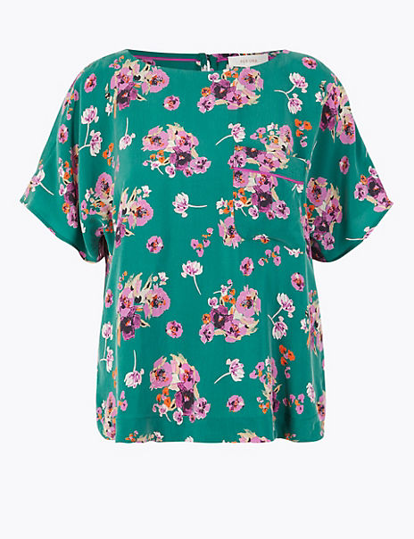 Floral Cupro Shell Top