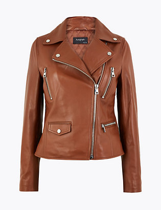 Leather Biker Jacket by Standard Tracked Delivery