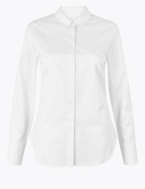 Cotton Rich Essential Work Shirt