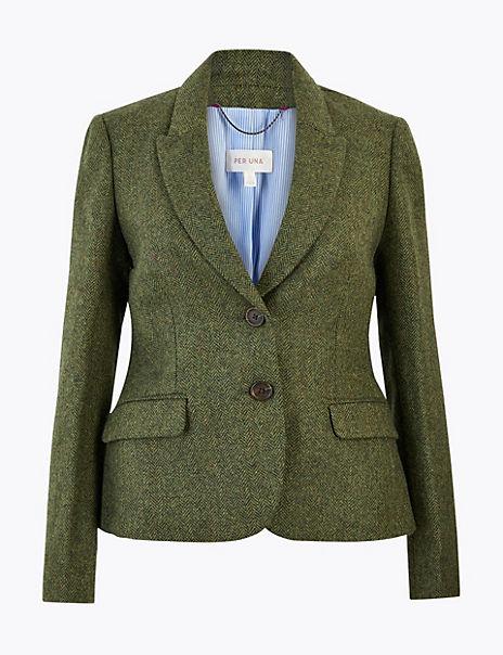 Pure British Wool Tweed Hacking Jacket