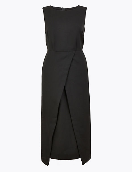 Tailored Waisted Midi Dress