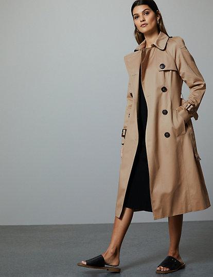 224f3adad7 Femme · Manteaux et vestes · Manteaux; Trench croisé 100 % coton. image