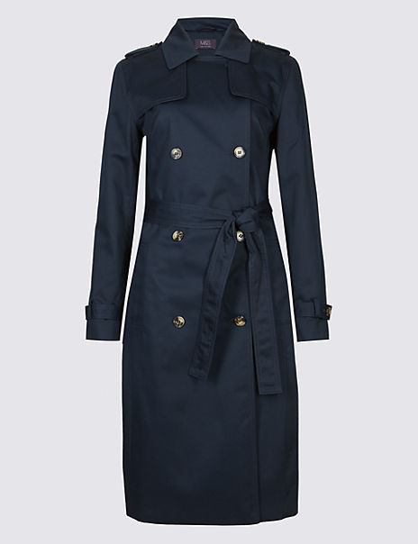 Pure Cotton Longline Trench