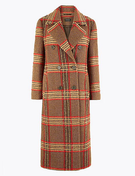 Checked Boyfriend Coat