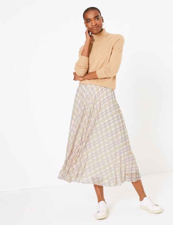 6e68e43d46 Pleated skirt   Women's Skirts   M&S