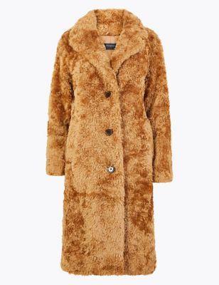 Faux Fur Boyfriend Teddy Coat by Marks & Spencer