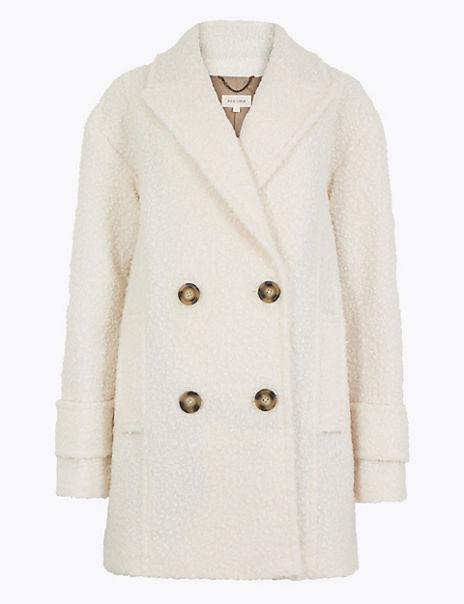 Double Breasted Bouclé Coat