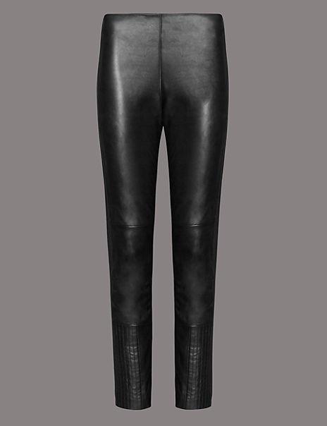 Leather Ponte Skinny Leggings