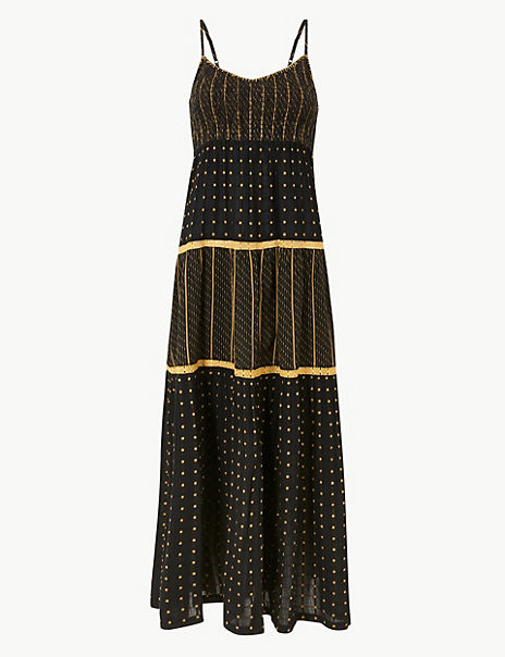 Textured Swing Maxi Dress
