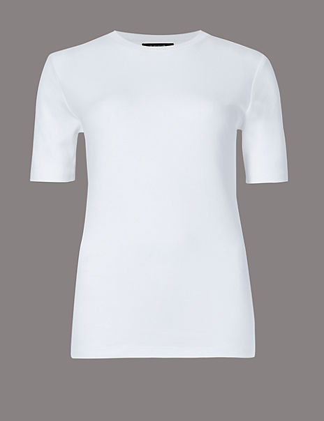 Pure Organic Cotton Round Neck T-Shirt
