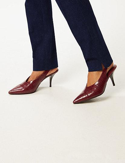 Pantalon coupe slim en coton   Pantalons   Marks and Spencer FR