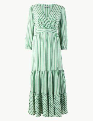 8005df8f3e8e Striped Waisted Maxi Dress £49.50