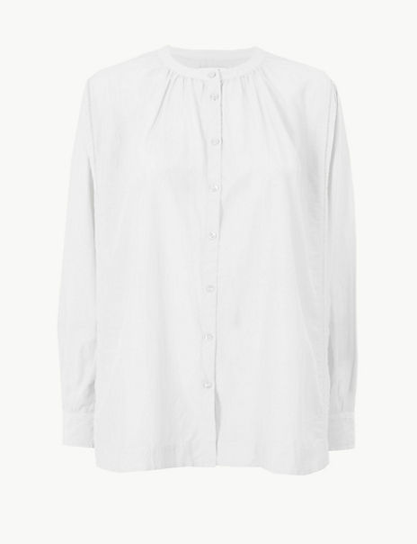 Cotton Rich Button Detailed Shirt