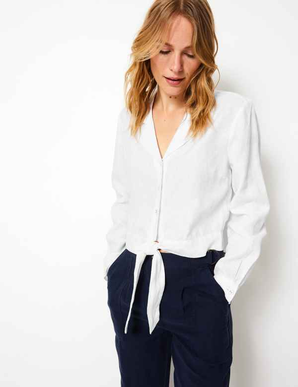 f5ba7825 Ladies Plain & Casual Shirts | Womens Utility Blouses | M&S