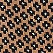 Geometric Print Sleeveless Wrap Blouse, CAMEL MIX, swatch