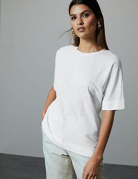 Boxy Slub T-Shirt