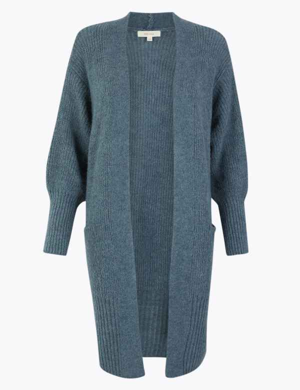 Textured Relaxed Fit Longline Cardigan | Per Una | M&S
