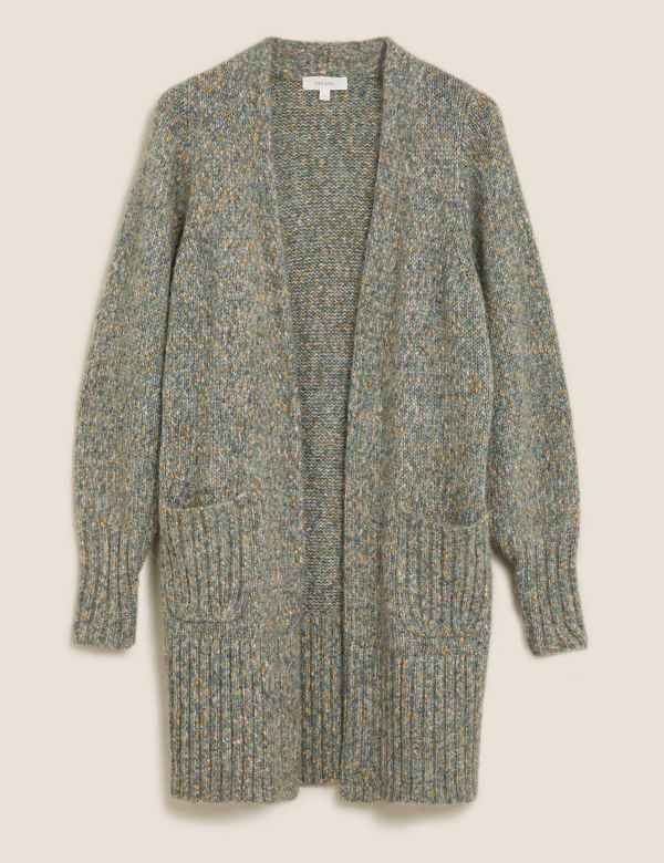 Textured Relaxed Longline Cardigan | Per Una | M&S