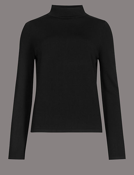 Merino Wool Rich Colour Block Jumper