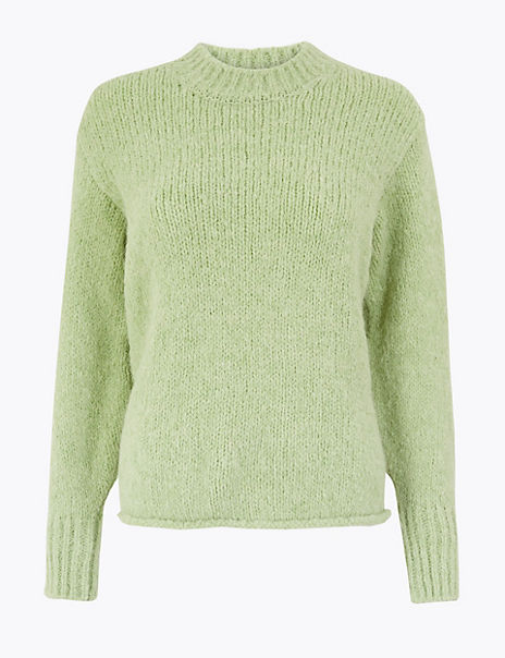 Textured Relaxed Fit Jumper