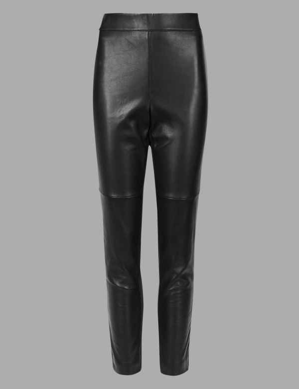 e2a8254b8905 Leather Ponte High Waist Leggings. Online Only