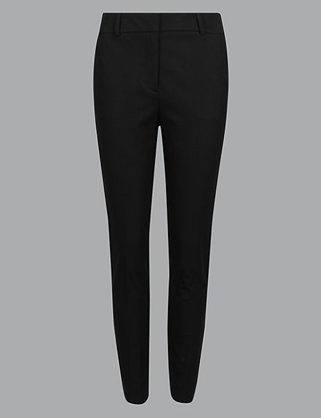 Cotton Rich Slim Leg Ankle Grazer Trousers
